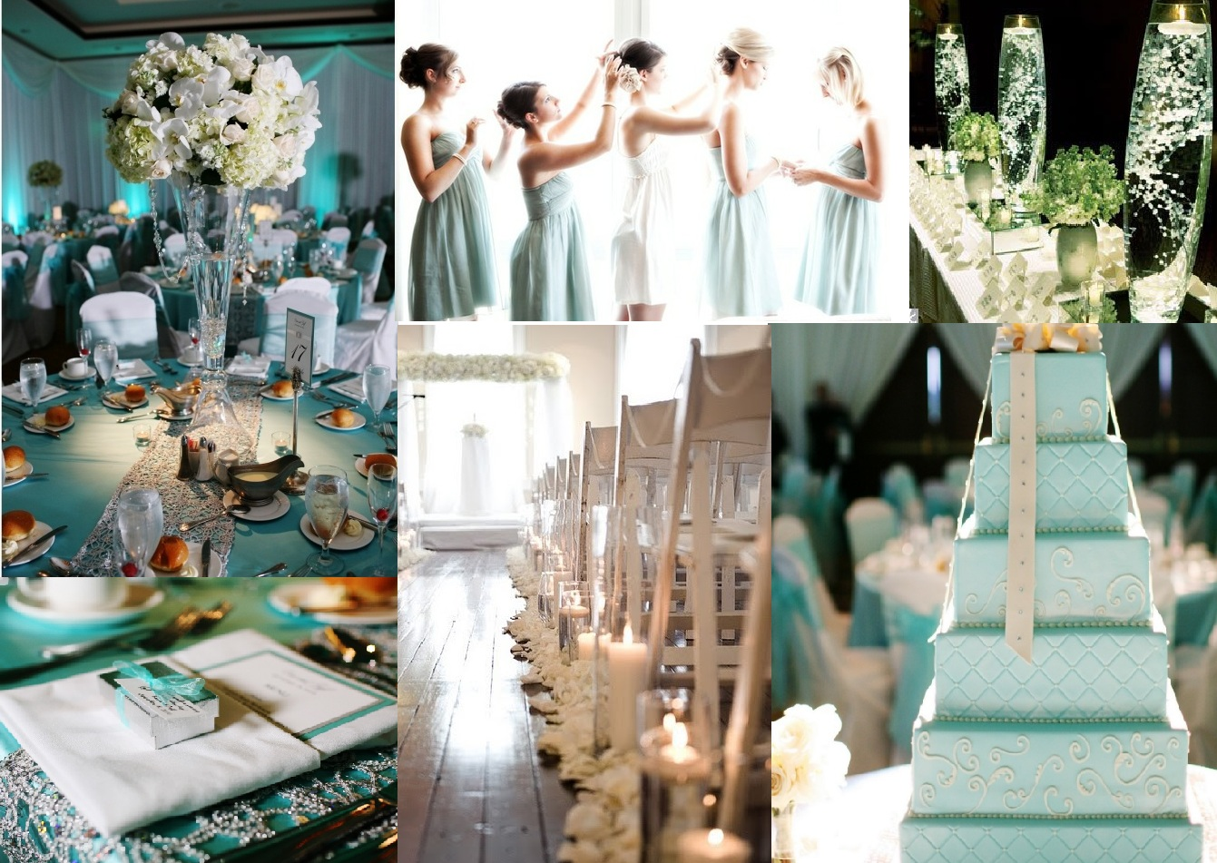 Champagne and Tiffany Blue Wedding | Dress images