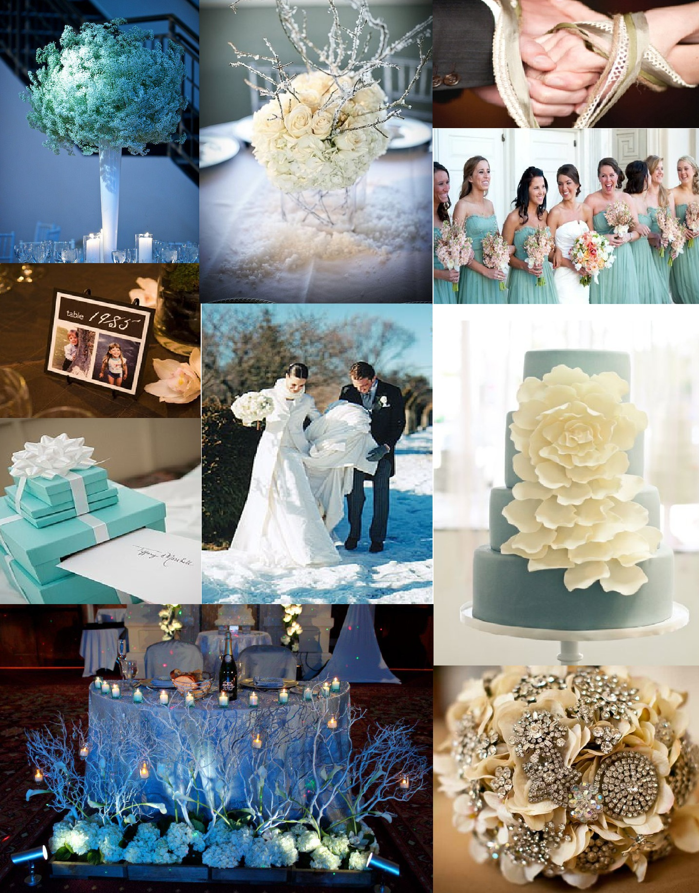 Winter White And Tiffany Blue Wedding Inspiration Bright Occasions