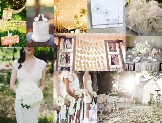 sweet white wedding board