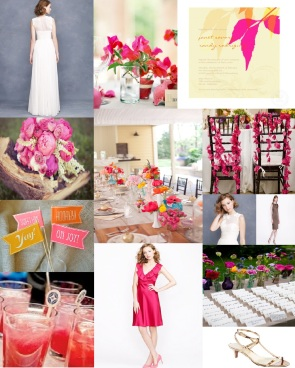 Pink and Orange, J.Crew Bridal Attire