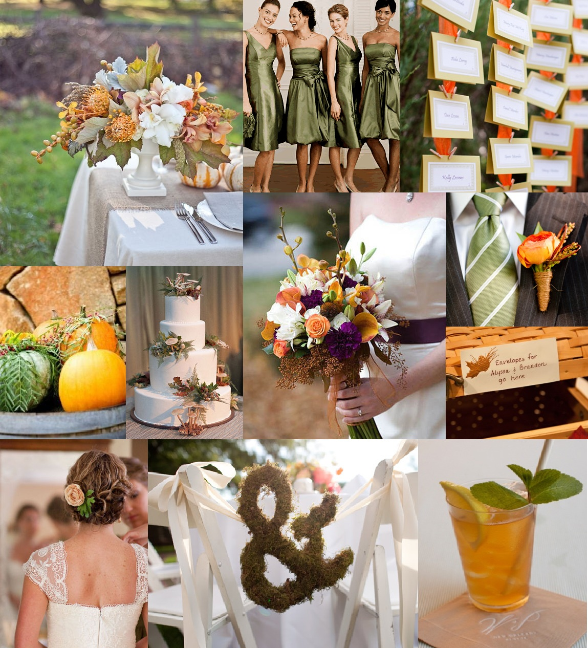 Rustic Fall Inspiration Board Sage Green Orange And