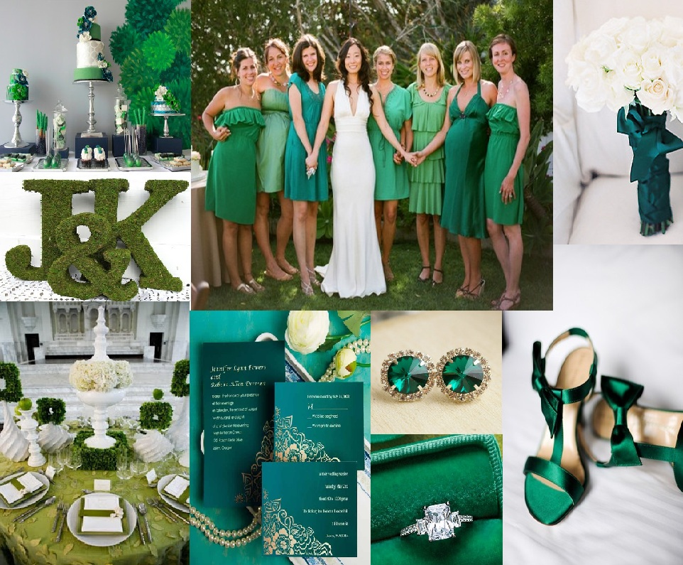 Wedding Ideas Emerald Green And Black Wedding