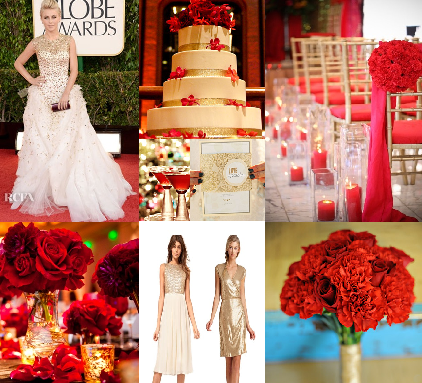 Red and gold wedding inspiration bright occasions red and gold wedding inspiration junglespirit Image collections