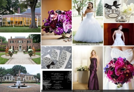 Deep Purple, Fuschia and Silver Maryland Wedding at Newton White Mansion