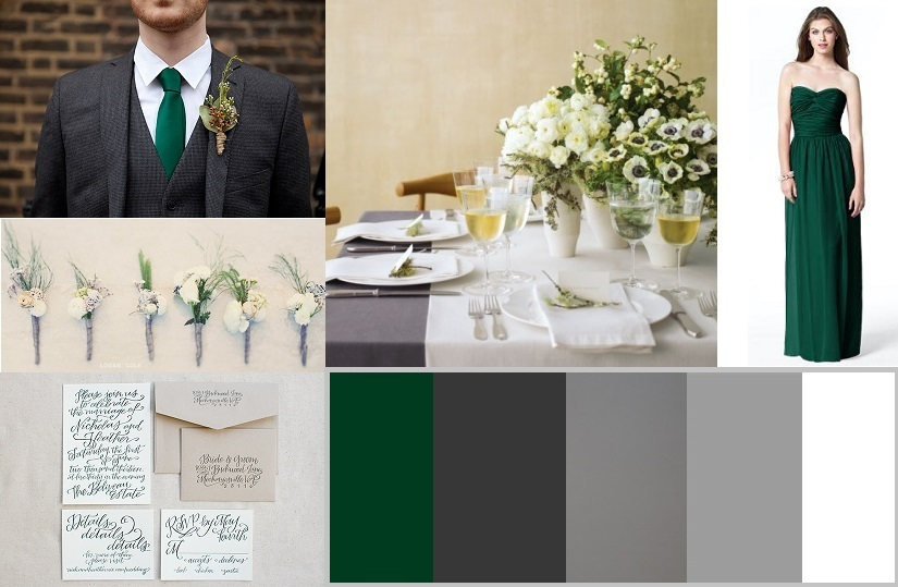 hunter green and gray wedding inspiration bright occasions