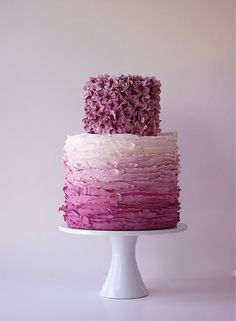 Radiant Orchid Ombre Cake by Maggie Austin