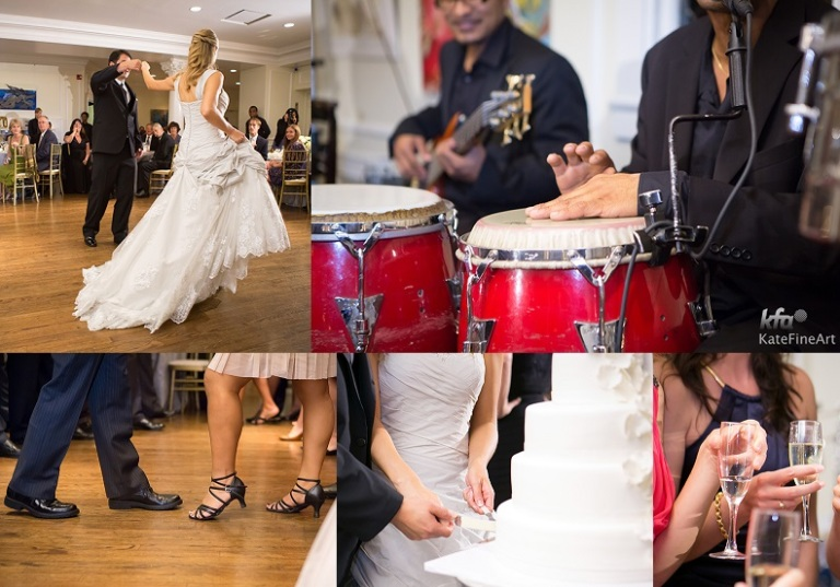 The Reception included Salsa Dancing with the Alfredo Mojico Band
