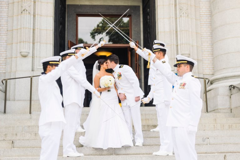 I love the traditions included in a Navy Wedding.  This was a really beautiful wedding and a great couple! Photo Credit: Krista A. Jones Photography