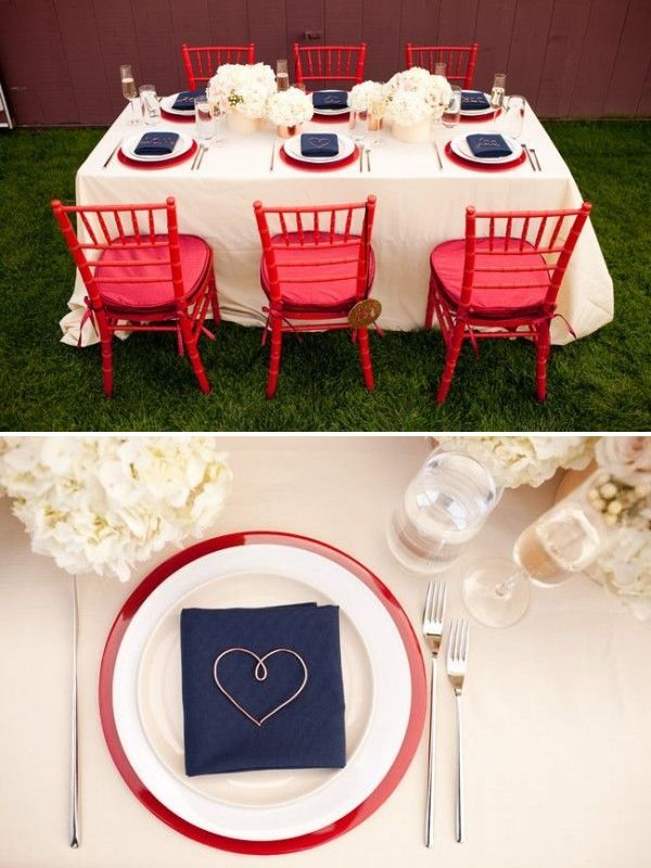 Via Calligraphy by Jennifer: http://calligraphybyjennifer.net/blog/fourth-of-july-wedding-inspiration/