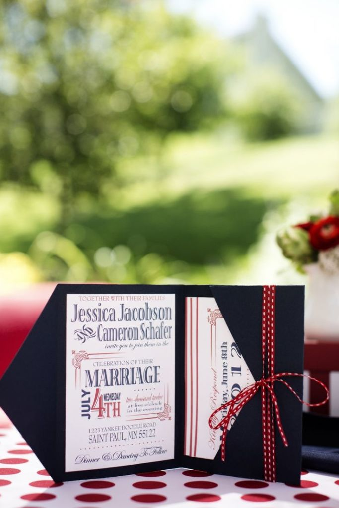 Via Minnesota Bride http://mnbride.com/blog/cheers-america-fourth-july-wedding-inspiration-shoot