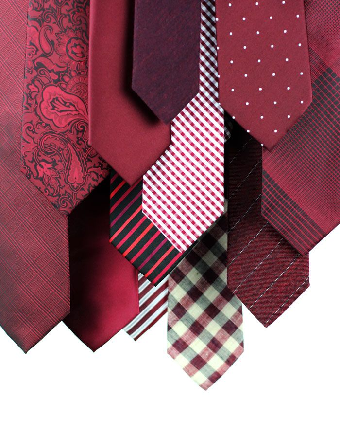 Pantone Color of the Year Marsala via Bows and Ties