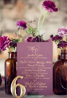 Purple Tablescapes via inspiredbythis.com