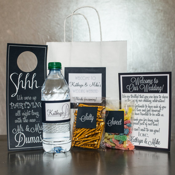 Welcoming Wedding Gift Bags Via Modern Soiree Etsy Shop