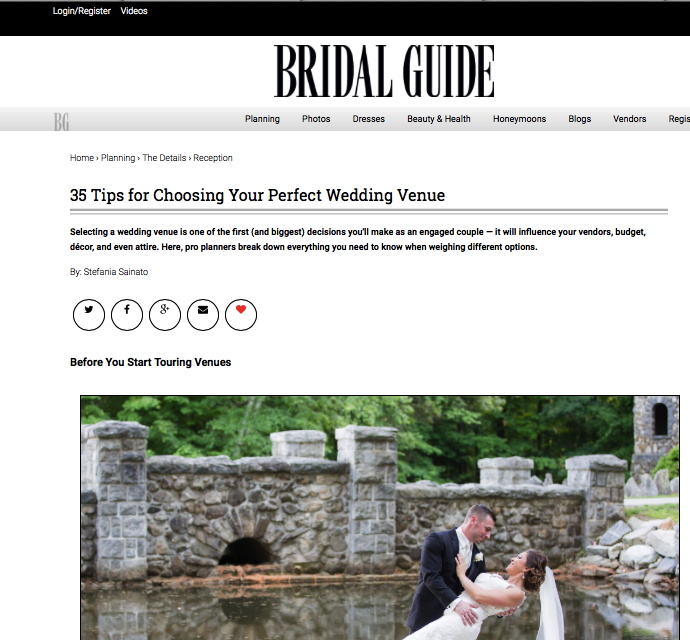 Bridal Guide Magazine, Photo by Lovely Valentine Photography
